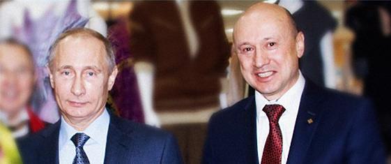 Владимир Путин и ректор Белгородский В.С